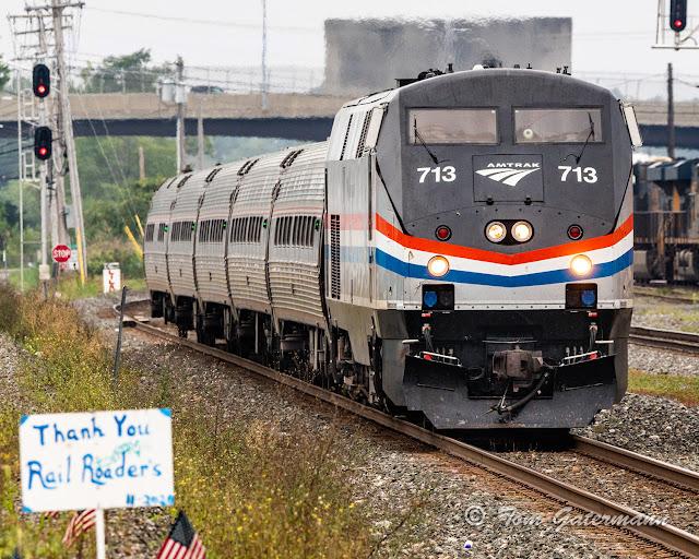 AMTK 713 leading Empire Service Train 284