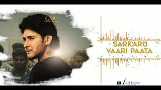 Sarkaru Vaari Paata Ringtones Download