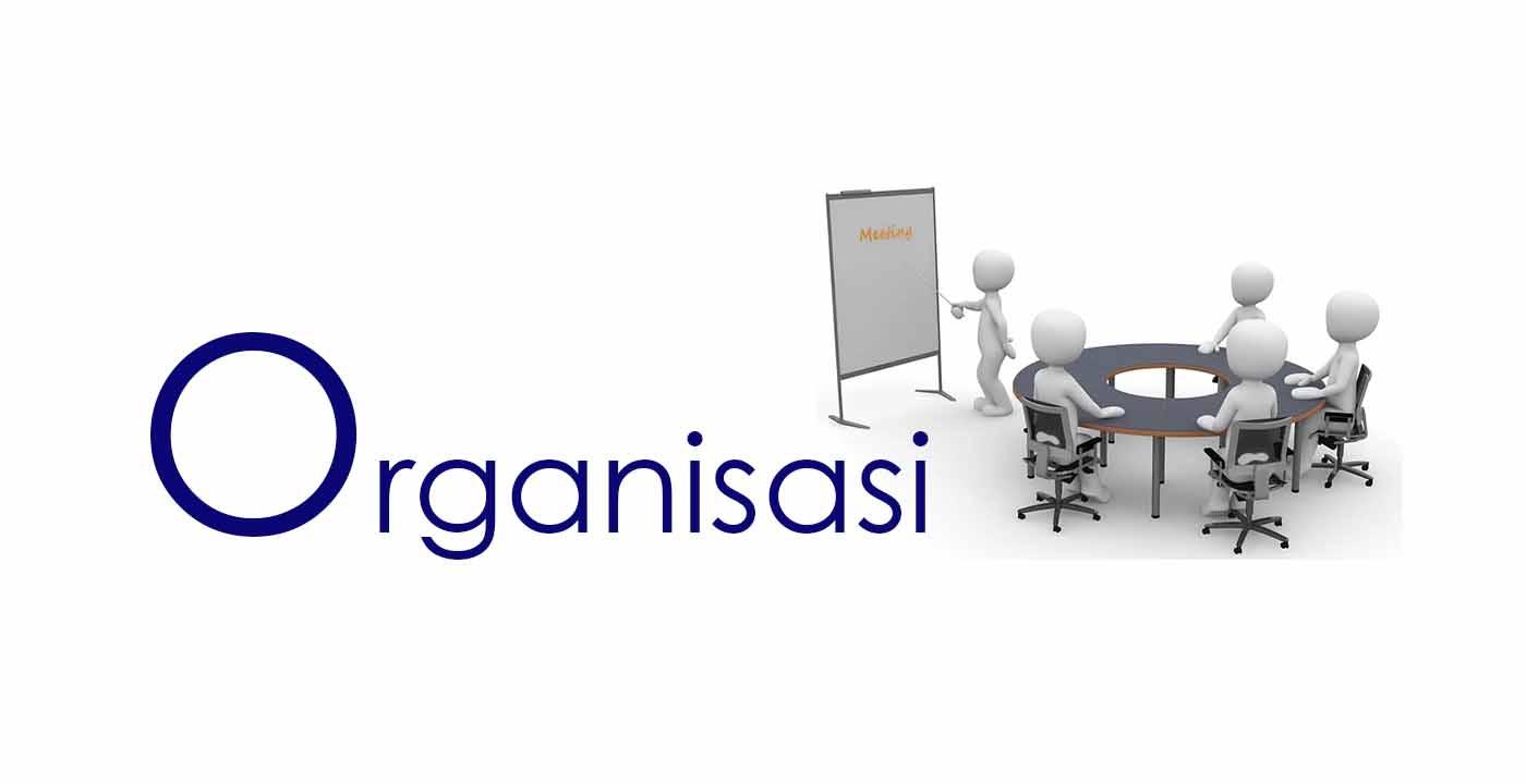Pengertian organisasi adalah perkumpulan atau wadah bagi sekelompok orang untuk bekerjasama, terkendali dan terpimpin untuk tujuan tertentu. Organisasi biasanya memanfaatkan suatu sumber daya tertentu misalnya lingkungan, cara atau metode, material, mesin, uang, dan beberapa sumberdaya lain dalam rangka mencapai tujuan organisasi tersebut.