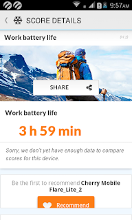 Cherry Mobile Flare Lite 2 Battery Stat