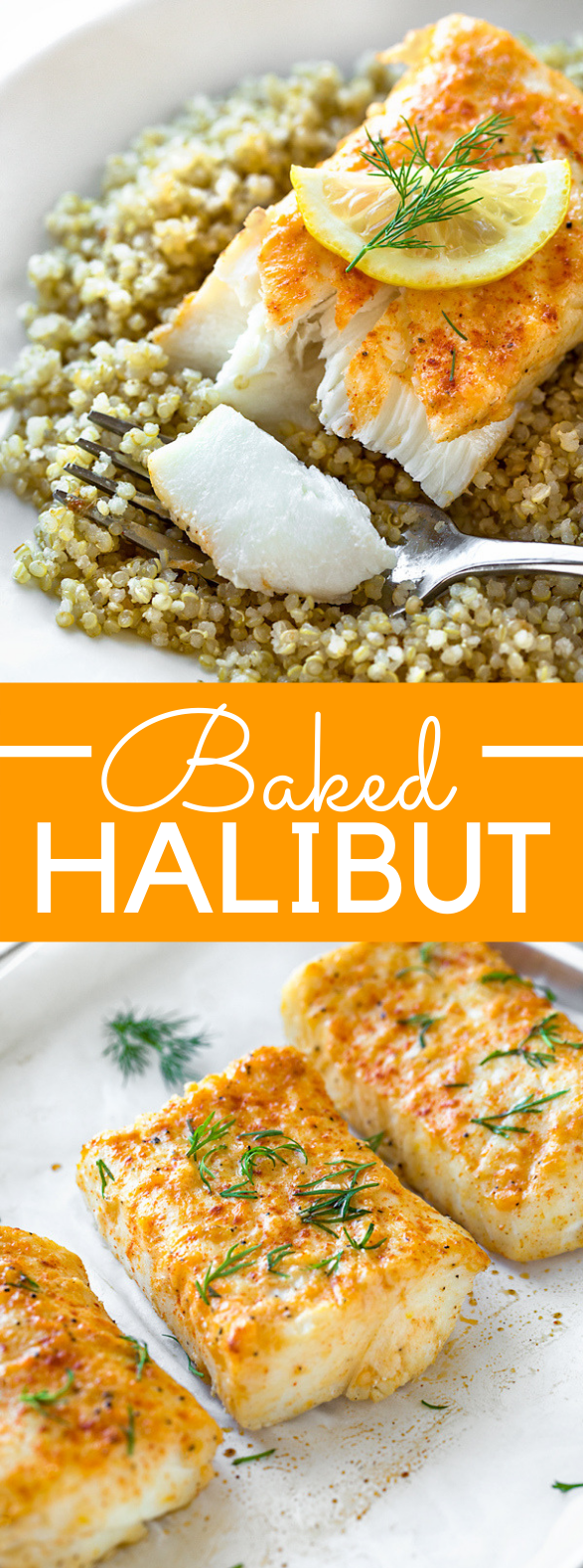 Baked Halibut #healthy #fish