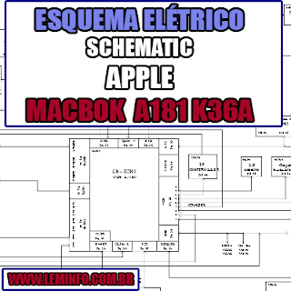 Esquema Elétrico Manual de Serviço Notebook Laptop Placa Mãe Apple MacBook A1181 K36A Schematic Service Manual Diagram Laptop Motherboard Apple MacBook A1181 K36A Esquematico Manual de Servicio Diagrama Electrico Portátil Placa Madre Apple MacBook A1181 K36A