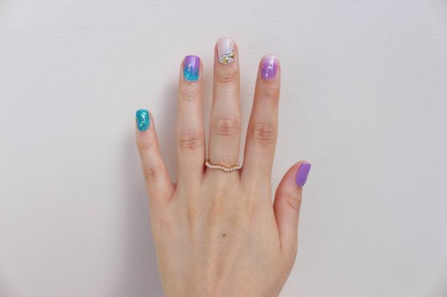 Unha da semana: Nail art bem sereia!