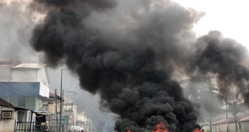 TVC News on fire [VIDEO]
