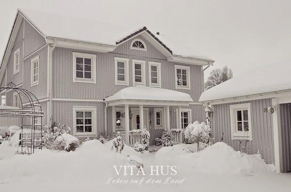 Schwedenhaus grau  Schwedenhaus im Winter Teil 1 - * VitaHus *