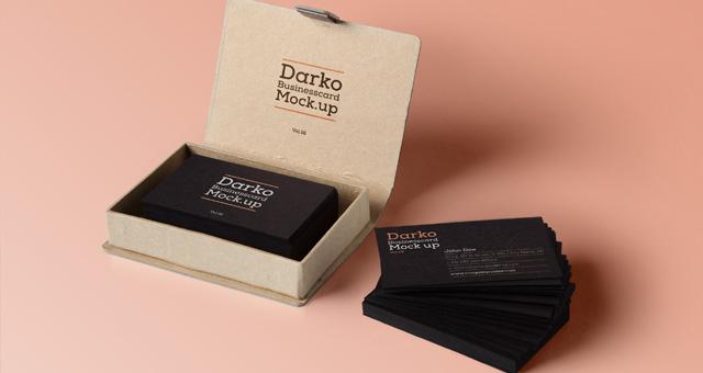 Dark Business Card Mock-Up