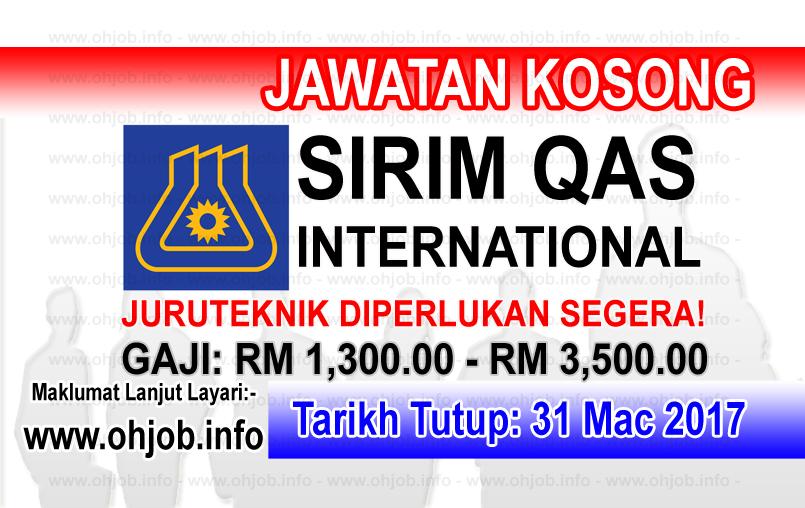 Jawatan Kerja Kosong SIRIM QAS International logo www.ohjob.info mac 2017