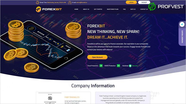 ForexBit обзор и отзывы HYIP-проекта