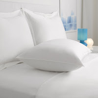 Restful Nights Everlasting Loft Eco-Smart Hotel Pillow laying on a bed