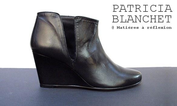 artisanat de qualité choisir véritable sur des pieds à Low boots Patricia Blanchet compensées | Matières à ...