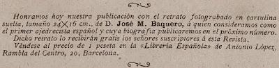 Recorte de la revista Ruy López, nº 1- Junio de 1896