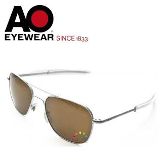 AO Military Original Pilot Aviator Sunglasses (Matt, Cosmetan® Brown)
