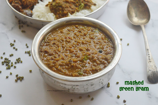 Mashed Green Moong Dal Recipe | Pachai Payaru Kadayl