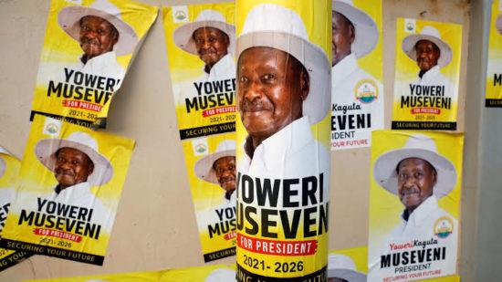 Uganda's Yoweri Museveni, 76, wins his sixth term as President