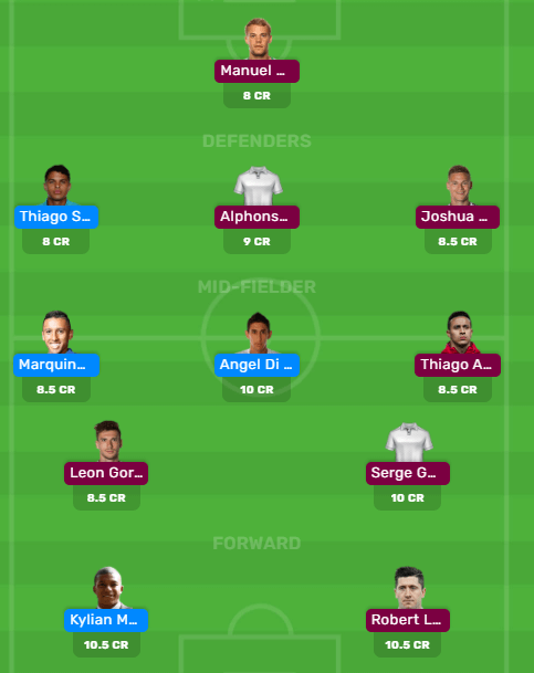 PSG vs Bayern UEFA Champions League Dream11 Team for Today's Match