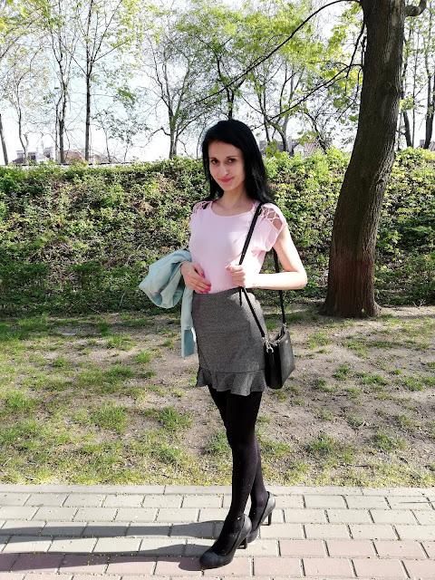 Orsay różowa bluzka z ażurowymi rękawkami
