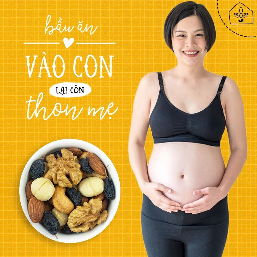 Mixnuts 5 loại hạt thai phụ nên ăn trong tháng cuối thai kỳ