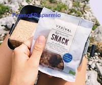 Logo Vinci gratis 1 contenitore sostenibile per la merenda e snack Verival