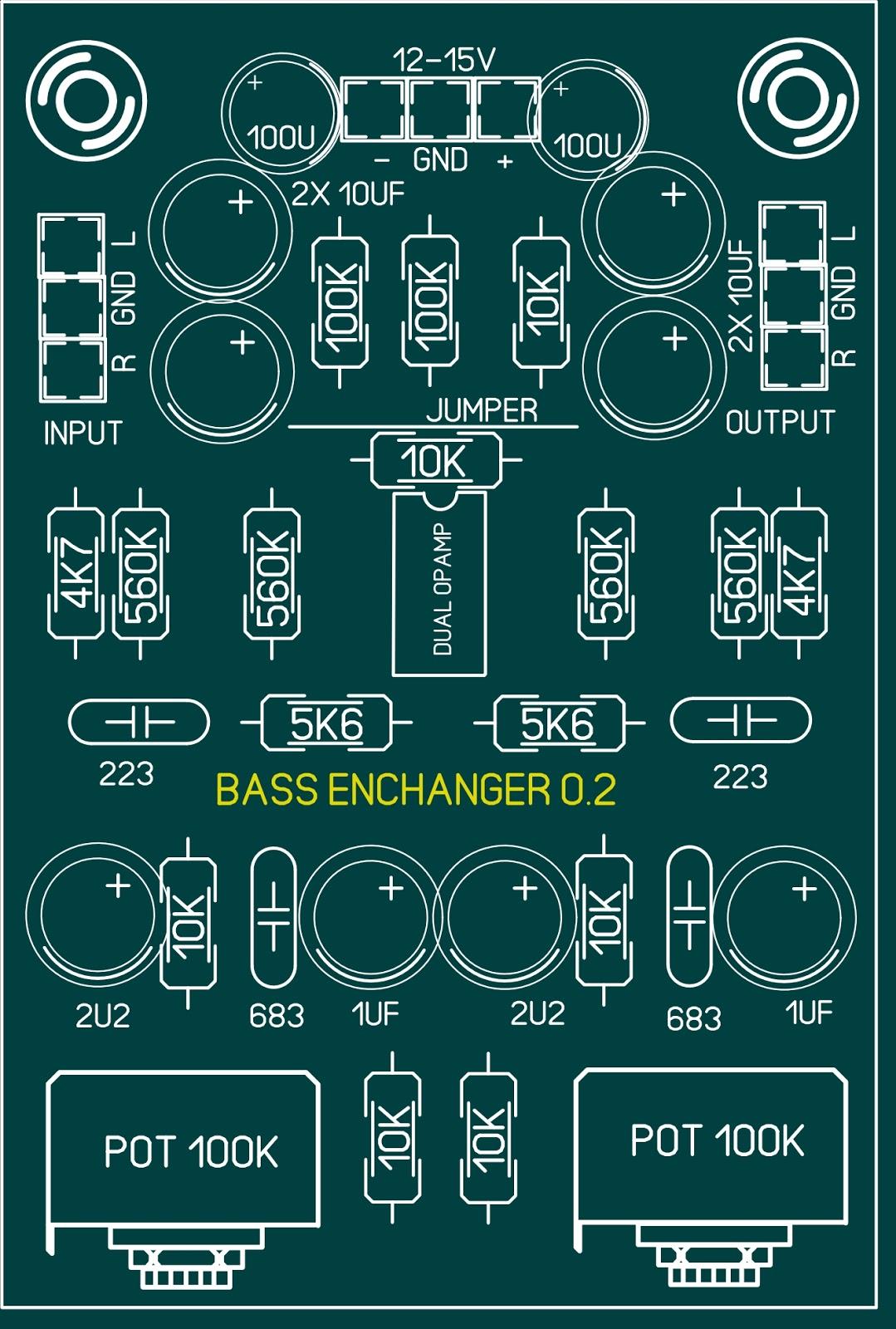 Cara Membuat Tone Control Mono Subwoofer Modifikasi Dan Assesoris Layout Pcb Bass Enchanger Stereo Pengatur Suara