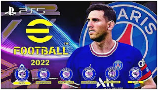 Download eFootball PES 2022 PPSSPP PSG Edition Graphics PS5 HD English Commentary & Fix Final Transfer And Kits