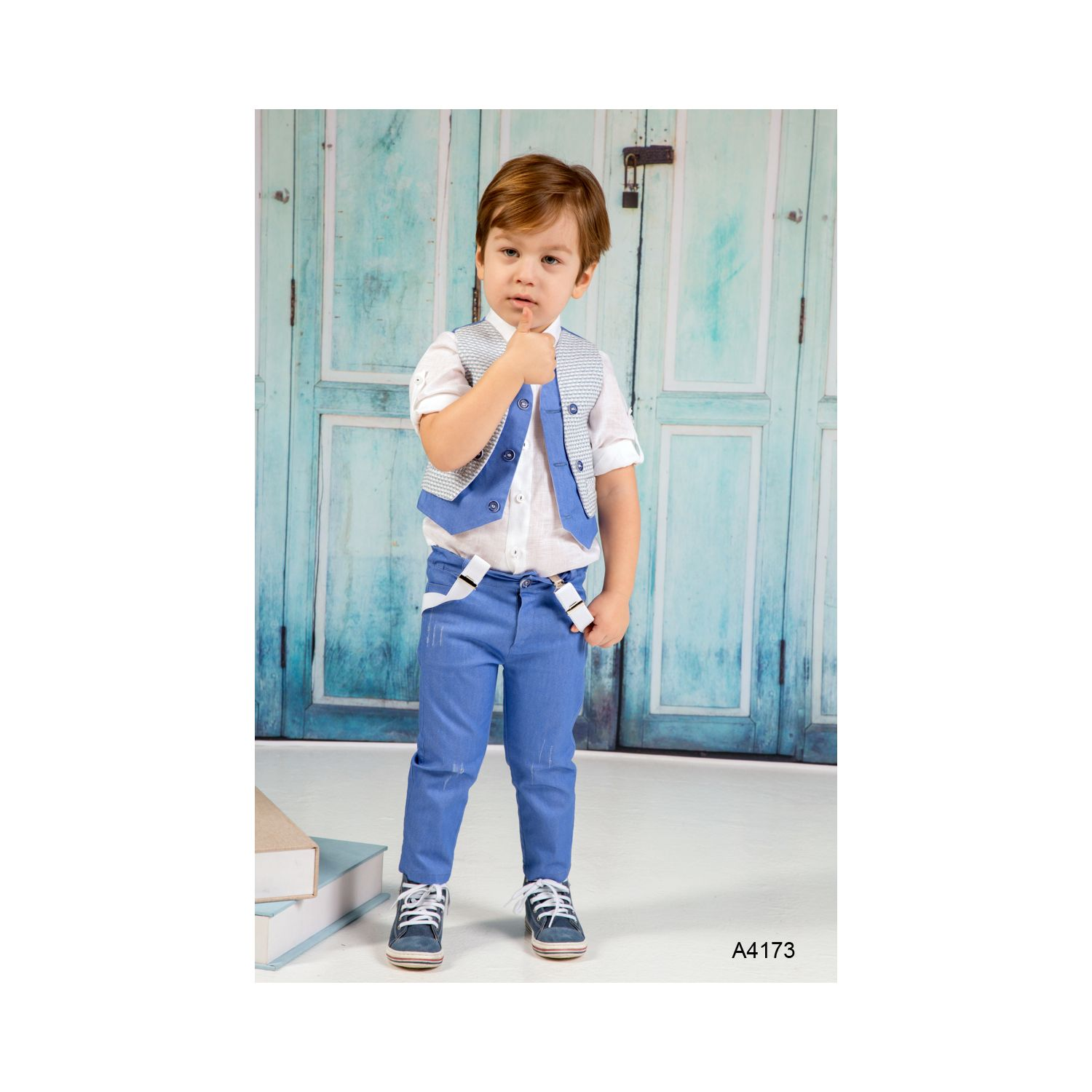 Greek christening clothes for boys A4173
