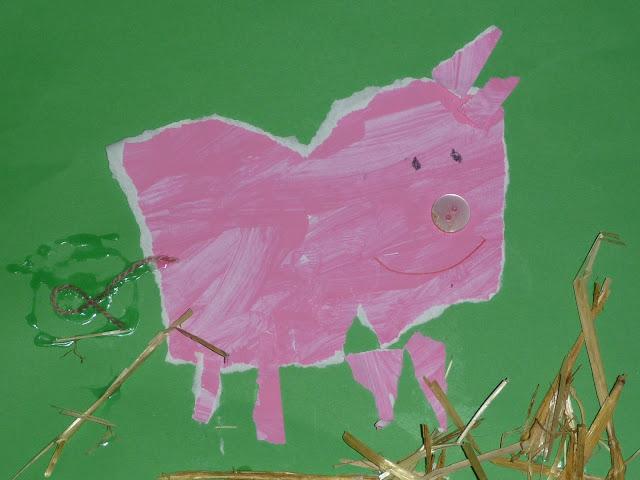 basteln Schweine und andre Tiere