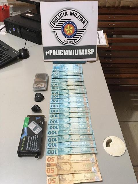 Policias Militar preede Homem Por Tráfico de Drogas em Tupi Paulista