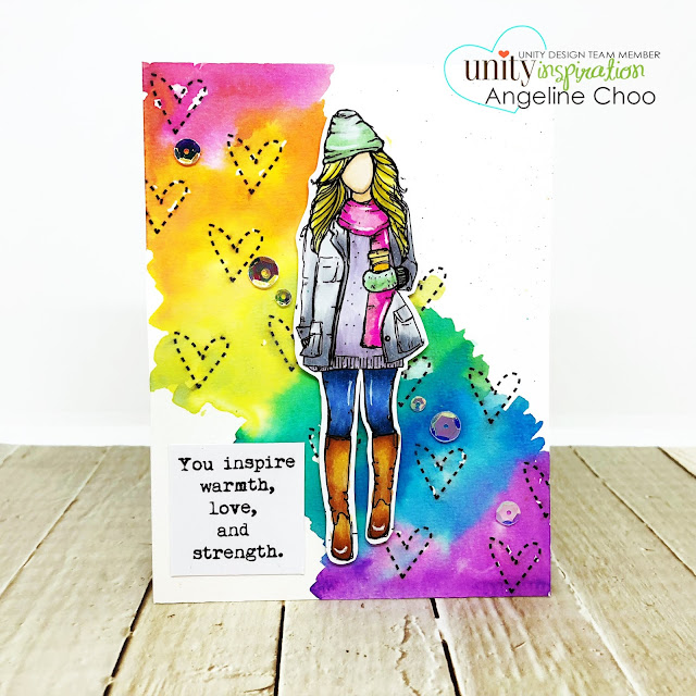 ScrappyScrappy: July Blog Hop with Unity Stamp - Rainbow Oxide Hearts #scrappyscrappy #unitystampco #tyoutube #quicktipvideo #card #cardmaking #craft #crafting #timholtz #emersongirl #rainbowoxide #distressoxide #rainbow #watercolor