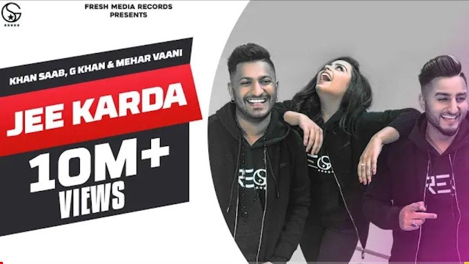 Jee Karr Daa Lyrics | Hardy Sandhu | Amyra Dastur | Akull | Mellow D | Latest Song 2020