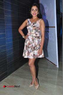 Actress Madhu Shalini Stills in Floral Short Dress at RGV Shiva to Vangaveeti Event  0198.JPG