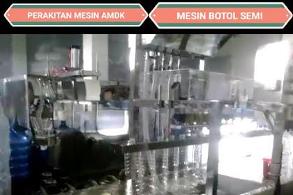 Mesin Pengisian Gelas dan Botol Semi Auto