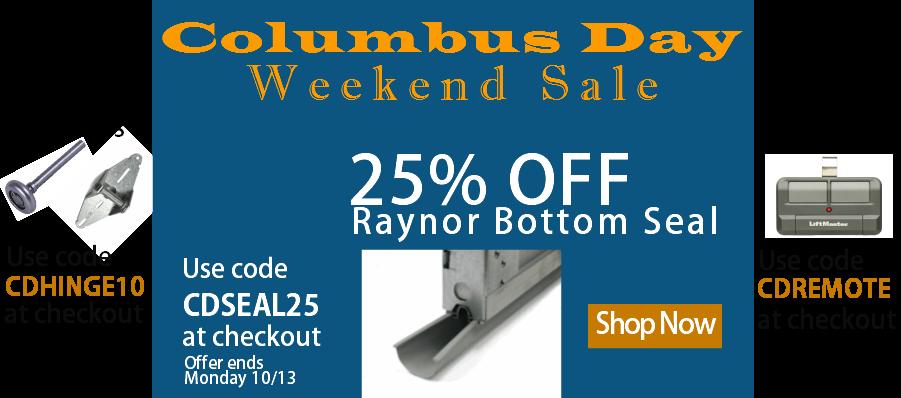 Garage Door Zone Blog Columbus Day Weekend Sale Save On