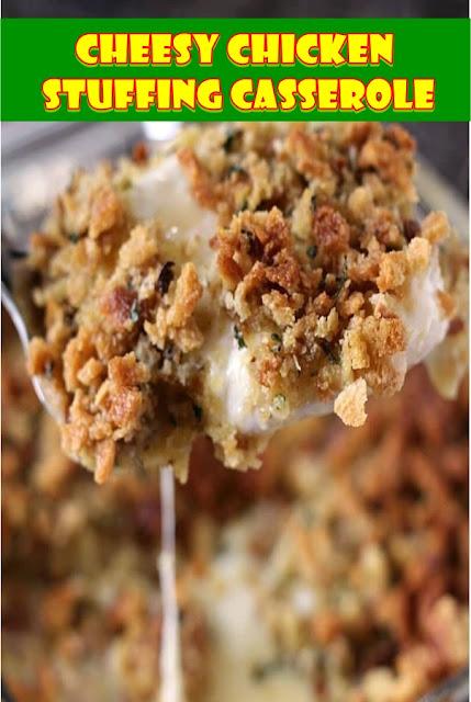 #Cheesy #Chicken #Stuffing #Casserole