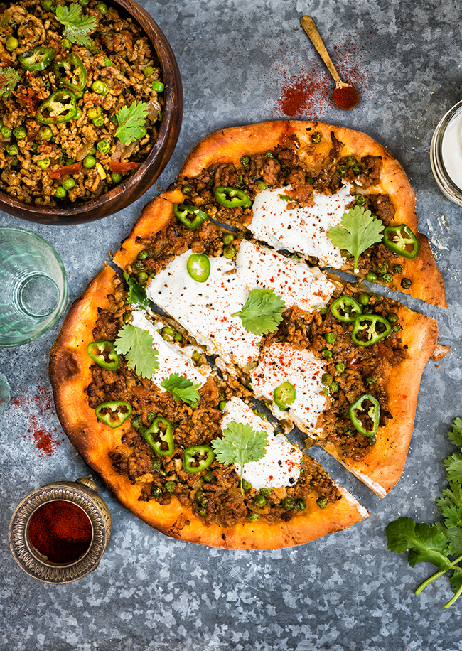 Spicy Lamb Keema Pizza