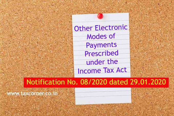Other Electronic Modes of Payments Prescribed under the Income Tax Act