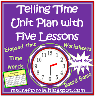 Time Lesson Plan, Telling Time unit plan, Elapsed Time word problems