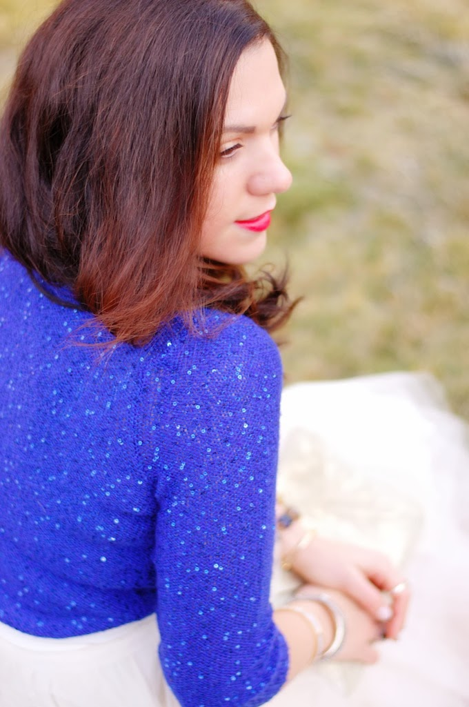 Anne Klein sequin sweater