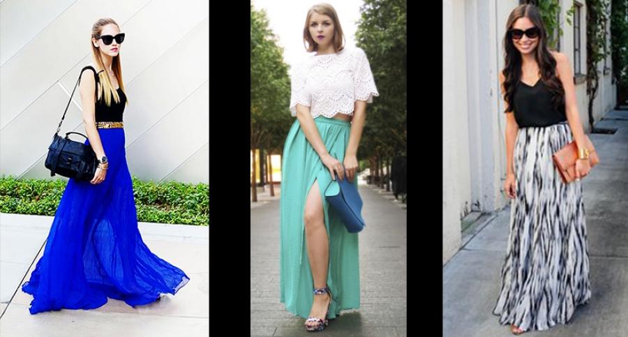 f52d547201 In Moda For Me  Tendencias de la moda  Falda larga o maxi falda