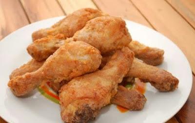 Pollo frito aromático