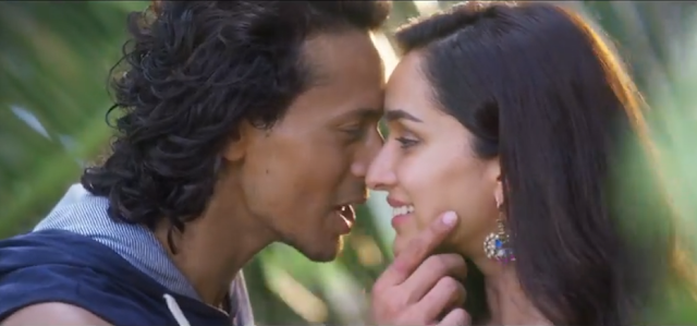 Tiger Shroff and Shraddha Kapoor from the movie Baaghi.