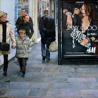 vistas-urbanas-con-figura-humana pinturas-mujeres-paisajes-urbanos