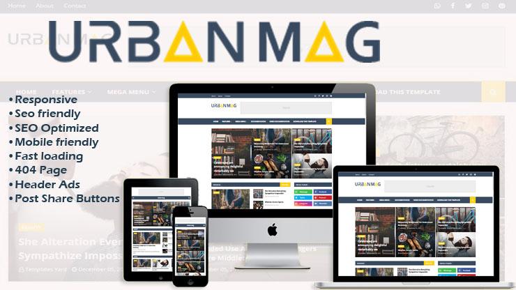 Urban Mag Premium Blogger Template