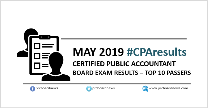 TOP 10 PASSERS: May 2019 CPALE results