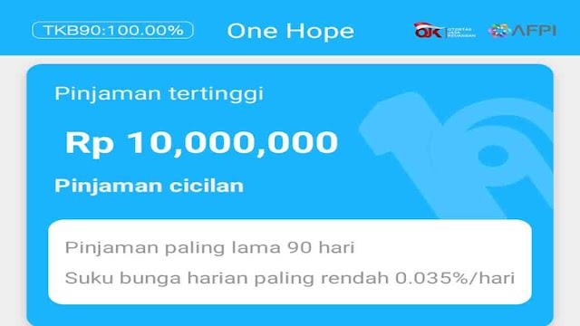 One Hope Apk Pinjaman Online