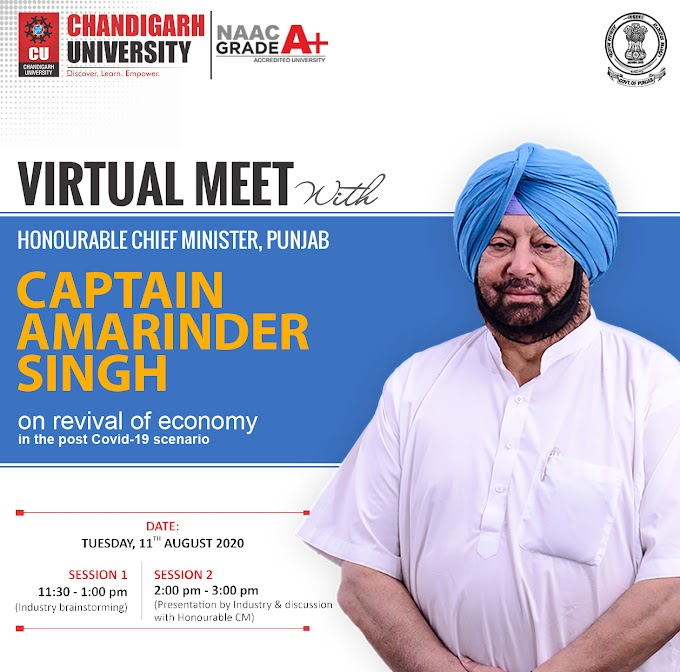Virtual Meet with Honorable Chief Minister, Punjab - Captain Amarinder Singh on revival of Economy in the Post COVID-19 Scenario