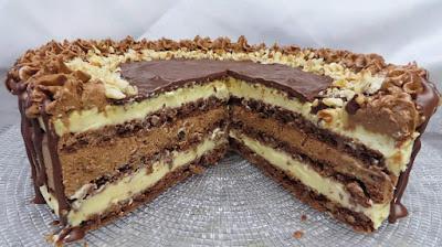 Boem Torta - Čokolada i Lješnjaci   Chocolate & Hazelnut Cream Layer Cake