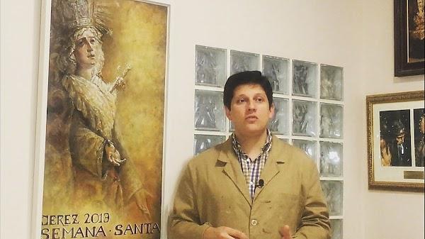 Fernando Aguado, cartelista del centenario de la Candelaria de Sevilla