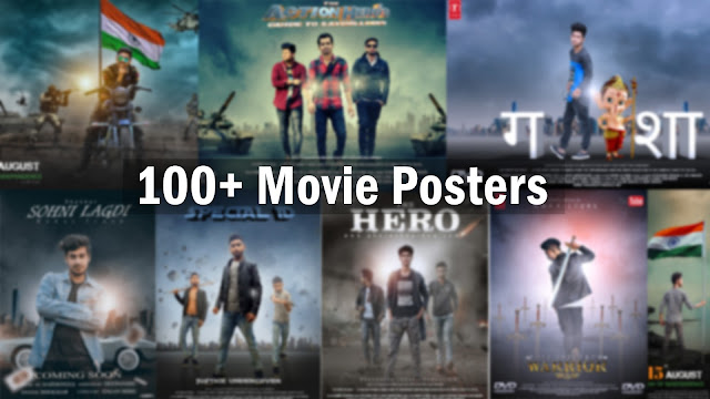 100+ Movie Posters Stock Background