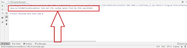 FileNotFoundException
