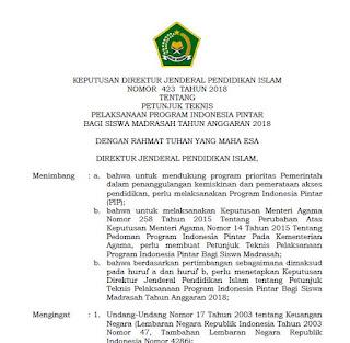 Juknis PIP Madrasah 2018